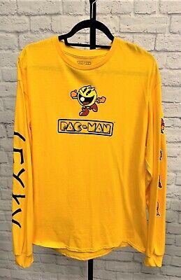 Pac-Man Video Game Yellow Long Sleeve T Shirt Large