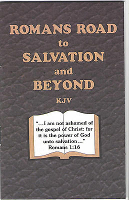 ROMANS ROAD TO SALVATION AND BEYOND Booklet Lot (10) Christian Witness KJV tract (Road To Salvation)