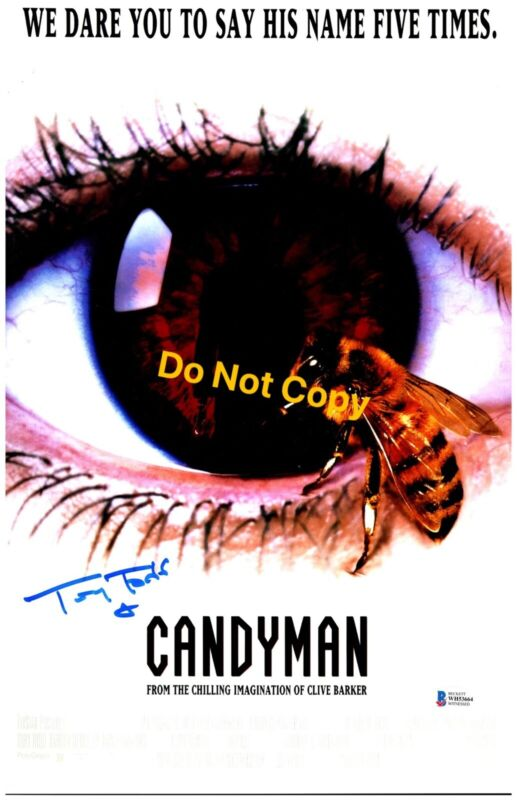 TONY TODD signed 11x17 Poster CANDYMAN Candy Man Horror Beckett Witness