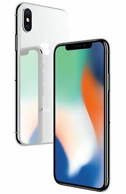 Apple iPhone X 64GB Mobile Silver Smart Phone iOS Unlocked A1901 B Grade