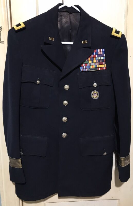 WWII US ARMY M1953 GENERAL OFFICER WINTER BLUE DRESS TUNIC; MG JOSEPH L COLLINS