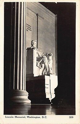 Used, VTG RPPC POSTCARD PRESIDENT ABE ABRAHAM LINCOLN MEMORIAL STATUE WASHINGTON DC for sale  Shipping to Canada