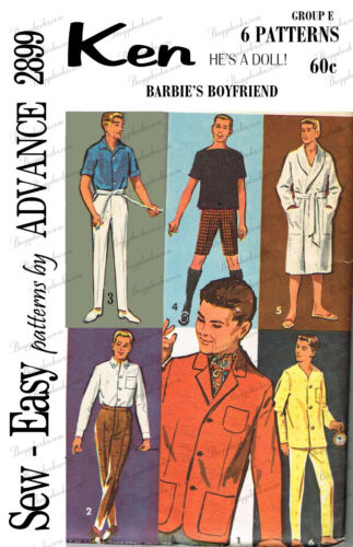 Advance 2899 - reproduced vintage ken sewing pattern