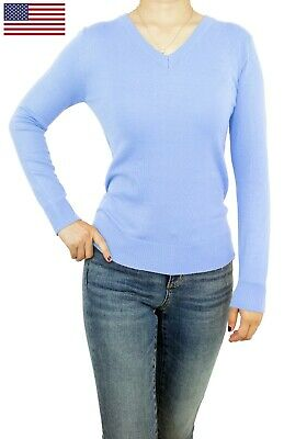 Soft V-neck Jumper - Women Top Jumper Pullover Soft Knit V-Neck Fitted or Loose Casual Cute Sweater