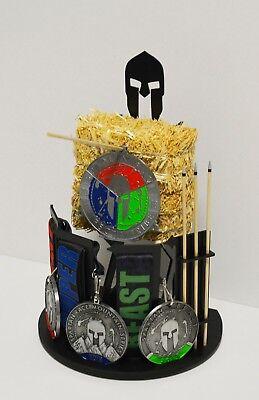 Spartan Race Medal Spear Target Display