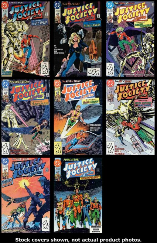 Justice Society of America (Mini-Series) DC 1991 Complete Set Run Lot 1-8 VF/NM