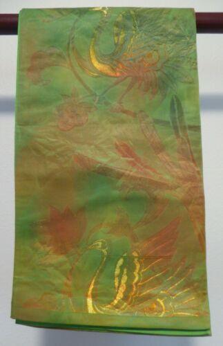 #74 Vintage Japanese Silk Fukuro Obi, Phoenix