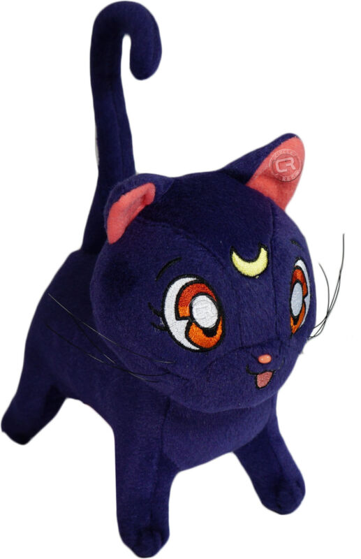 Sailor Moon Luna Plush Toy Purple Cat New W/ Tag Official Licensed GE Animation