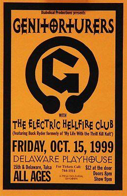 Genitorturers Electric Hellfire Club 1999 Cain's Ballroom Tulsa Concert HandbIll