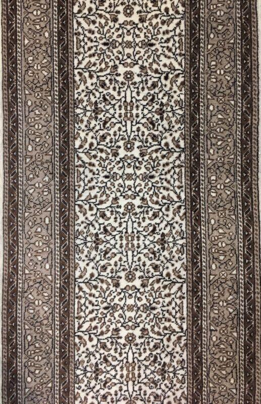 Terrific Turkish - 1960s Antique Kayseri Rug - Runner Floral Carpet 2.7 X 9.7 Ft