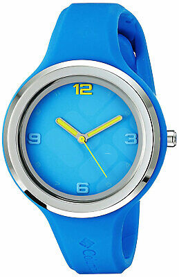 Columbia Ca017-400 Escapade Edelstein Damen Armbanduhr Blau Silikon Anzeige