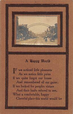 G24/ Flint Michigan RPPC Postcard 1910 Saginaw Street Stores (Saginaw Stores)