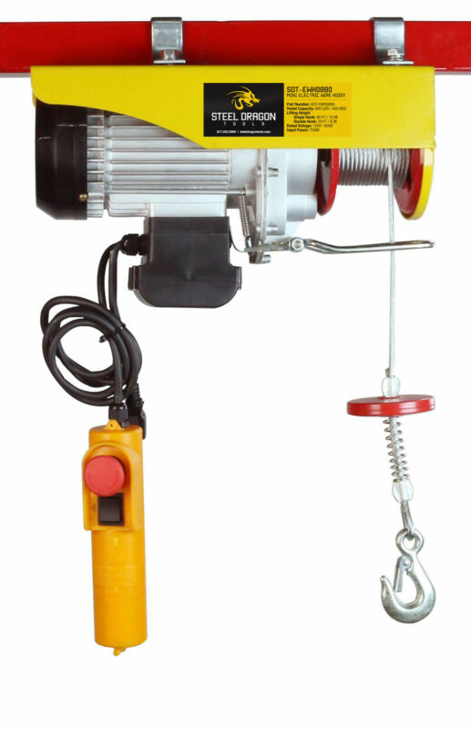 Steel Dragon Tools® 880 LBS Mini Electric Wire Cable Hoist Overhead Crane Lift