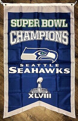 Seattle Seahawks NFL Super Bowl Championship Flag 3x5 ft Sports Banner Man-Cave - Seahawks Banner