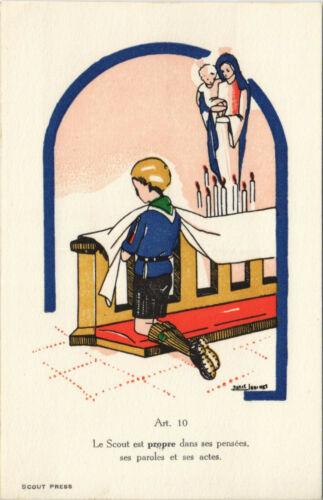 PC SCOUTING, LE SCOUT EST PROPRE DANS SES PENSÉES, Vintage Postcard (b28460)