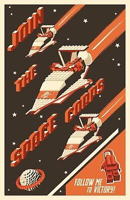 "Original LEGO Art 918 Space Transport Classic Space 11""x17"" Poster"