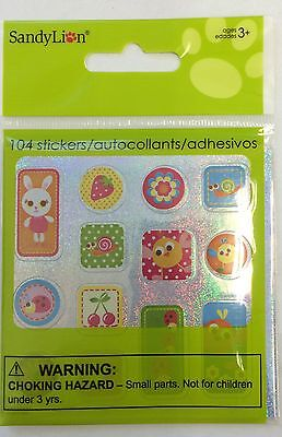 104 Happy Spring Easter Bunny Chick Flowers Stickers Party Favors Teacher Supply