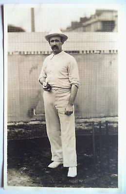 BILL HOWELL AUSTRALIA 1905 RALPH DUNN REAL PHOTO CRICKET POSTCARD