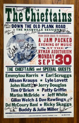 The Chieftains Down The Old Plank Road RARE concert poster