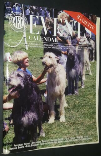 AKC Events Calendar Magazine Champion Scottish Deerhound Cover +Articles Aug 03