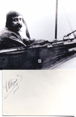 Louis Bleriot French Aviation Pioneer Record Holder Autograph Signed Card