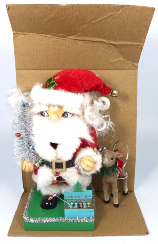 2018 World Market Nutcracker with Reindeer Ornament Classic American Santa NEW