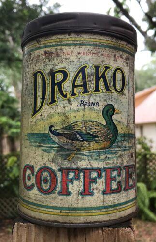 Drako brand vintage coffee tin
