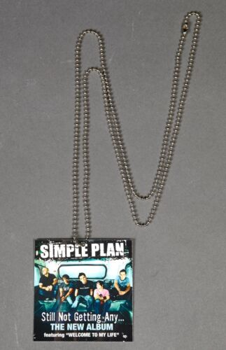 Simple Plan Still Not Getting Any NECKLACE Record Store Promo Item Rare Alt Rock