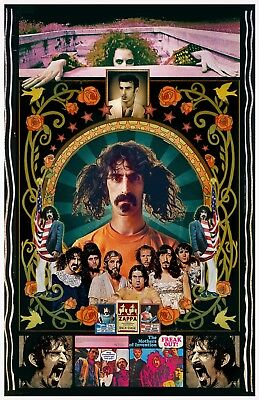 "Frank Zappa11x17"" TRIBUTE poster -Vivid Colors - Deep Blacks - Signed by Artist"