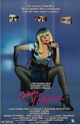 """Crimes Of Passion movie poster - Kathleen Turner - 11"""" x 17""""  inches"""