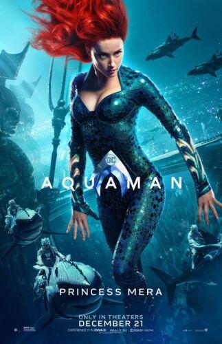 Aquaman movie poster  - 11 x 17 inches - Amber Heard (Princess Mera)