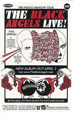 BLACK ANGELS 2013 Gig POSTER Portland Oregon Concert
