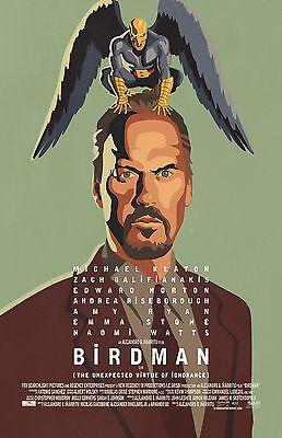 "Birdman movie poster print  - 11"" x 17"" inches - Michael Keaton"