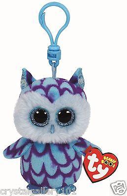 Ty Beanie Babies Boos Oscar Owl Key Clip 3 Inch Stuffed Plush Toy New
