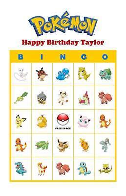 Party Bingo (Pokemon Birthday Party Game Bingo Cards Basic)