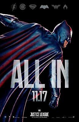Batman movie poster (JL3) - 11 x 17 inches - Justice League, Batman, Ben Affleck