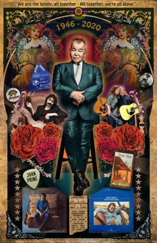 "John Prine tribute poster - 11x17"" -- Vivid Colors!"