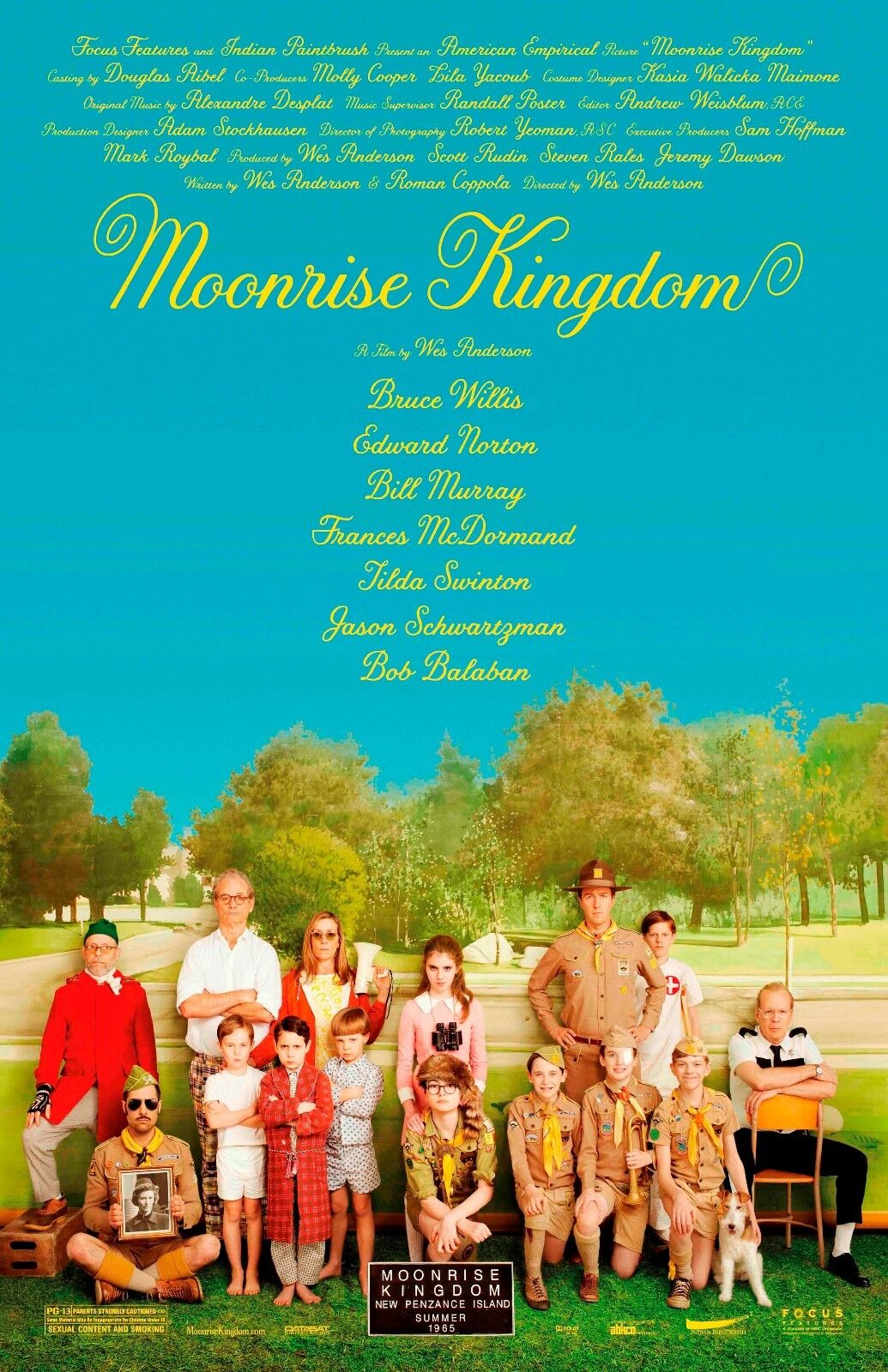 Moonrise Kingdom movie poster (b) - 11 x 17 inches - Wes Anderson