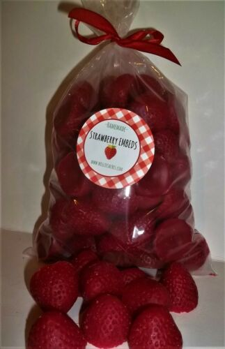 NELLIES ACRES LARGE STRAWBERRY WAX  EMBEDS..