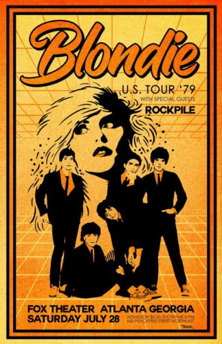 Blondie 1979 Tour Poster