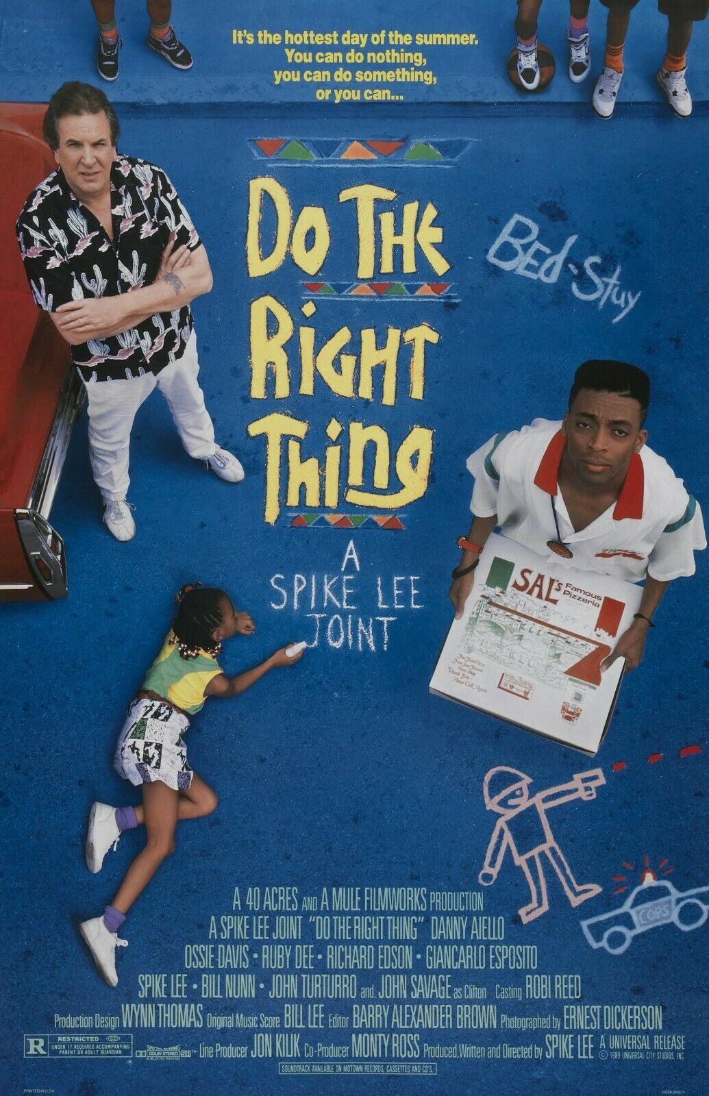 """Do The Right Thing movie poster - Spike Lee  -  11"""" x 17"""""""