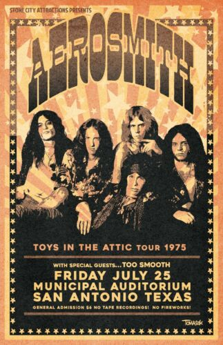 Aerosmith 1975 Concert Poster