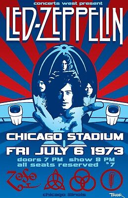 Led Zeppelin Iron On Transfer For T-Shirt & Other Light Color Fabrics #6