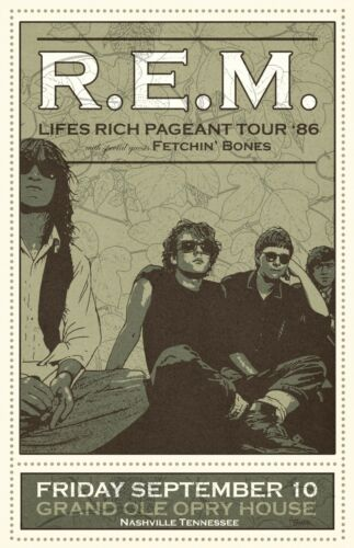 R.E.M. 1986 Tour Poster