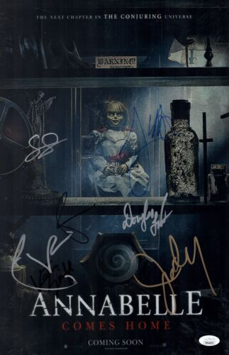 James Wan ANNABELLE COMES HOME Cast X7 Signed 11x17 Photo Autograph JSA COA