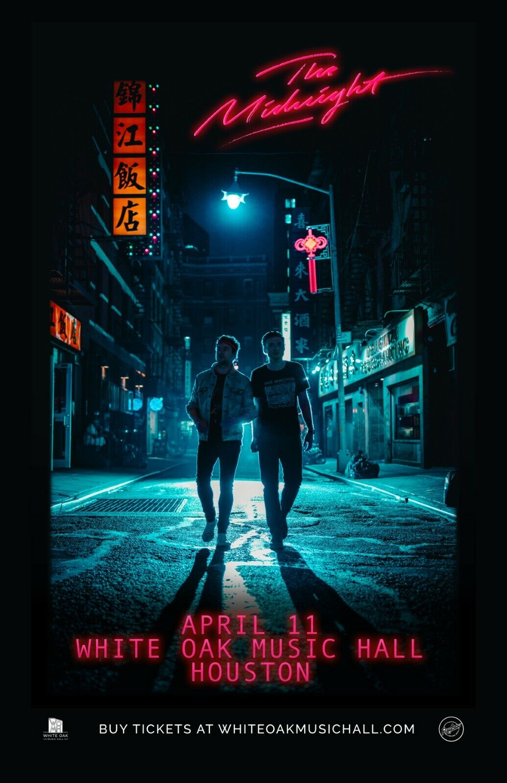 THE MIDNIGHT 2019 HOUSTON CONCERT TOUR POSTER - Synthwave, Electronic Music - $10.99