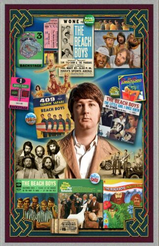 """Brian Wilson and the Beach Boys  Tribute poster - 11x17"""" - Vivid Colors!"""