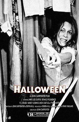Halloween UNSIGNED 11x17 PHOTO #2 Michael Myers John Carpenter Jamie Lee Curtis](Halloween 2 Jamie Lee Curtis)