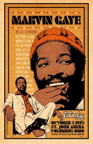 Marvin Gaye 1973 Tour Poster