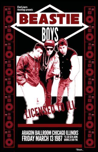 Beastie Boys 1987 Tour Poster